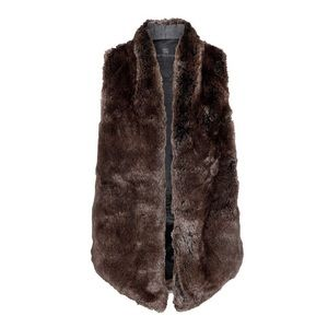 Tart Faux Fur Kya Vest • Chocolate Brown • S